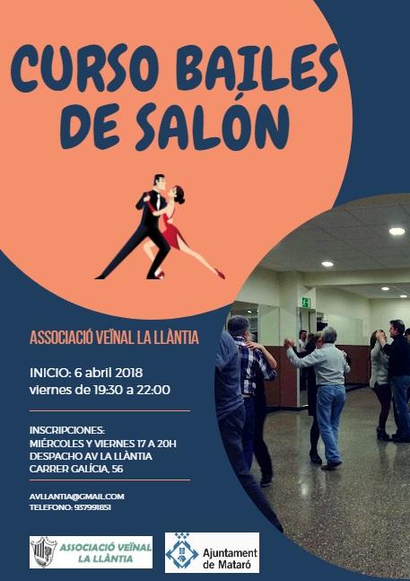 Cartel Curso Bailes de Salón